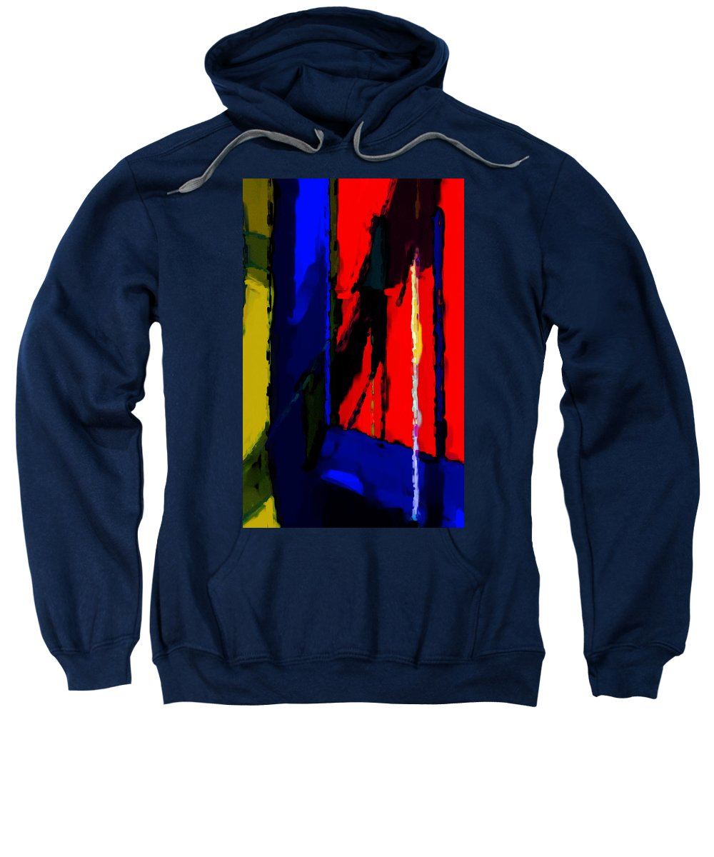 Torment Sweatshirt featuring the digital art Torment by Richard Rizzo