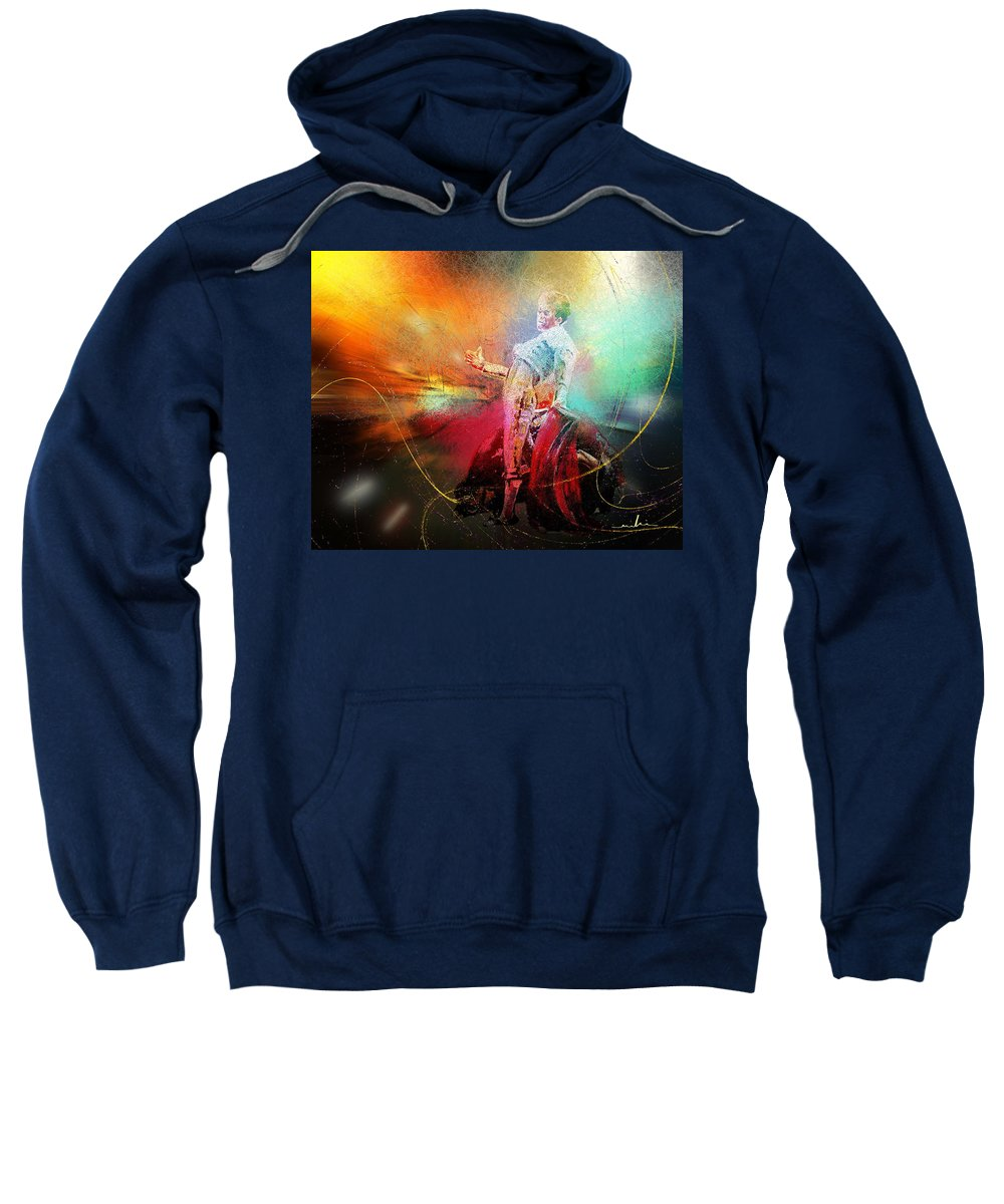 Animals Sweatshirt featuring the painting Toroscape 25 by Miki De Goodaboom
