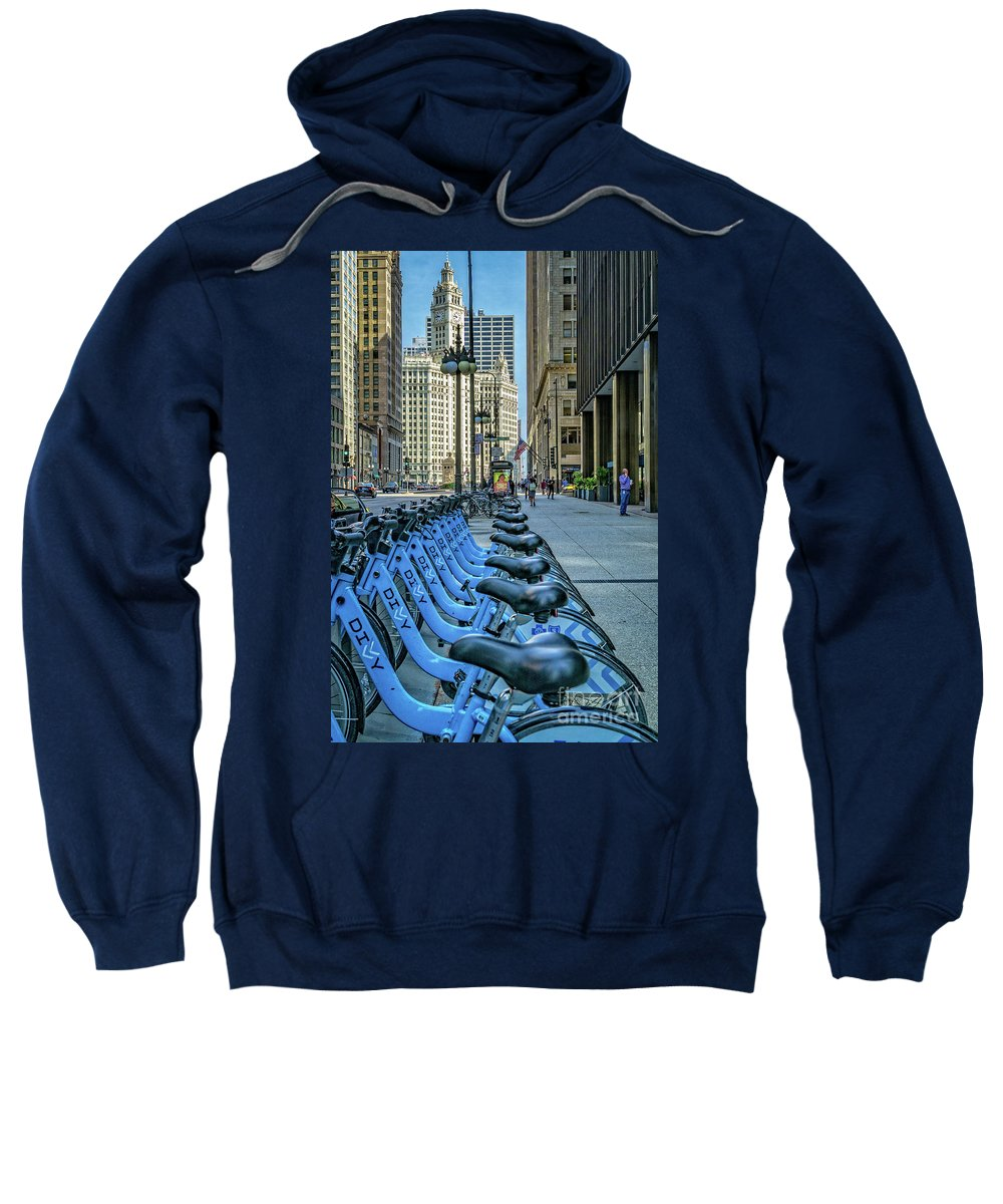 Chicago Sweatshirt featuring the photograph Towards Wrigley Building by Izet Kapetanovic