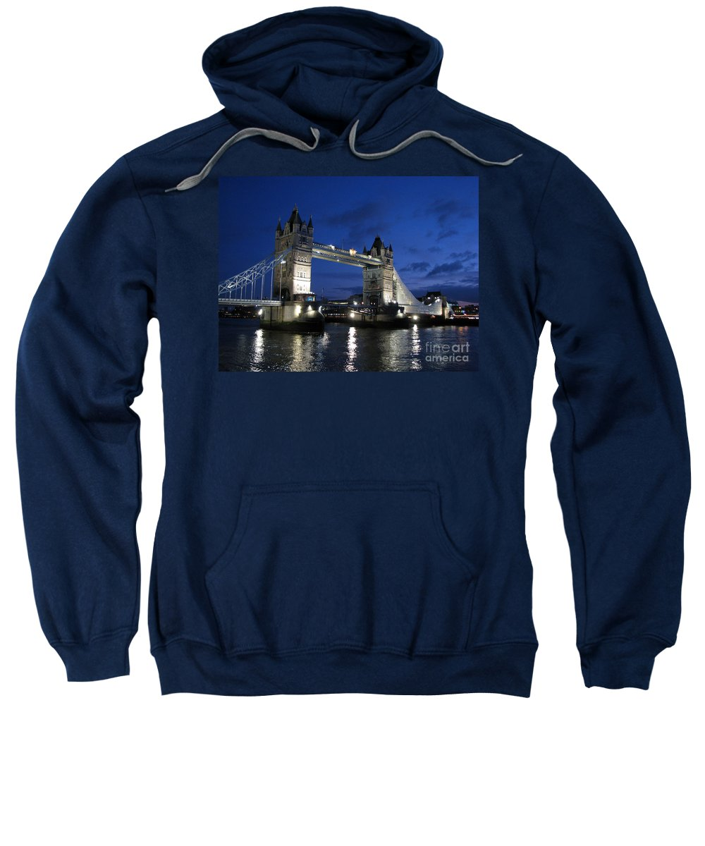 London Sweatshirt featuring the photograph Tower Bridge by Amanda Barcon