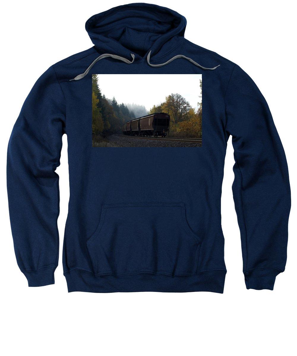 Train Sweatshirt featuring the photograph Train 3 by Sara Stevenson
