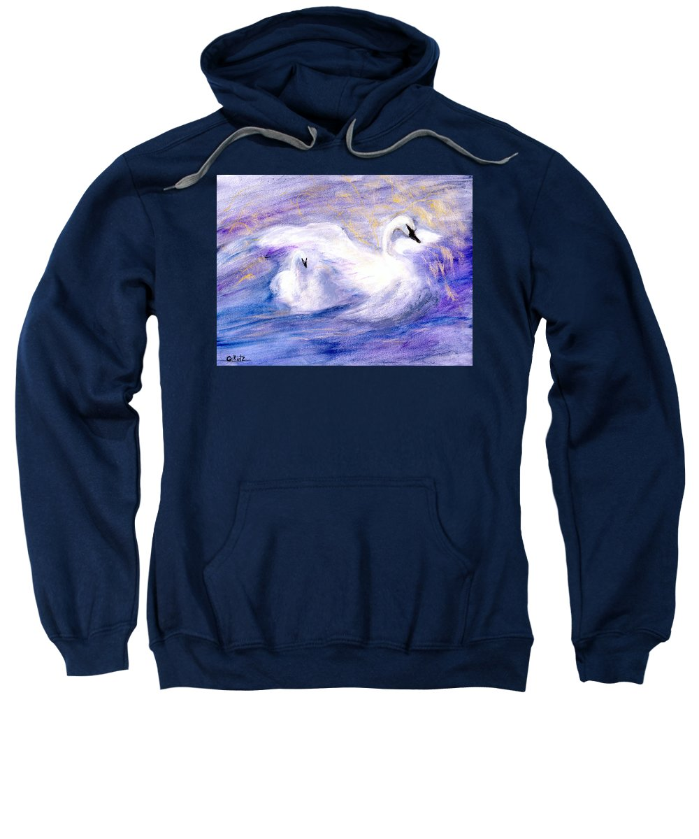 Birds Sweatshirt featuring the painting Transformation by Gail Kirtz
