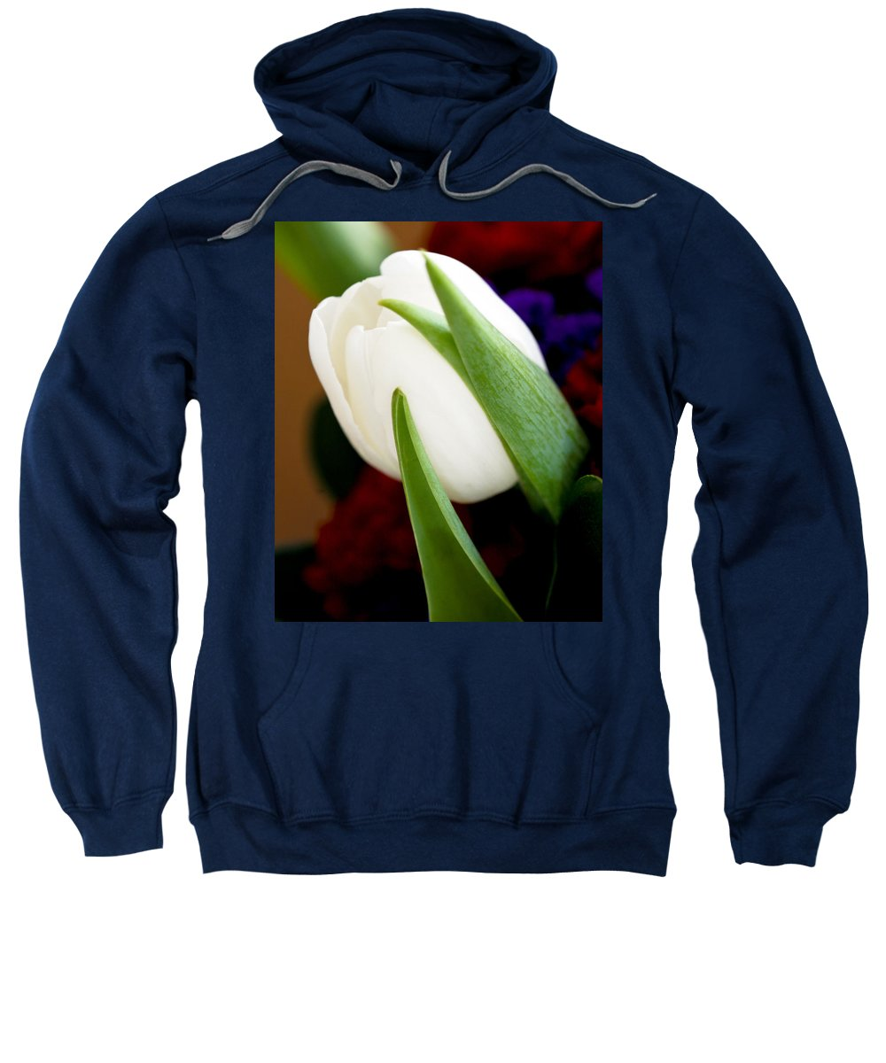 Floral Sweatshirt featuring the photograph Tulip Arrangement 4 by Marilyn Hunt