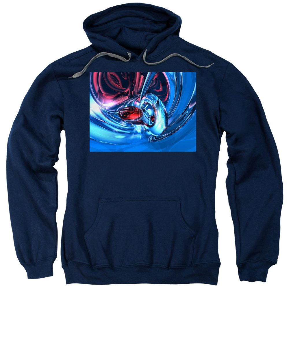 3d Sweatshirt featuring the digital art Tunnel Lust Abstract by Alexander Butler