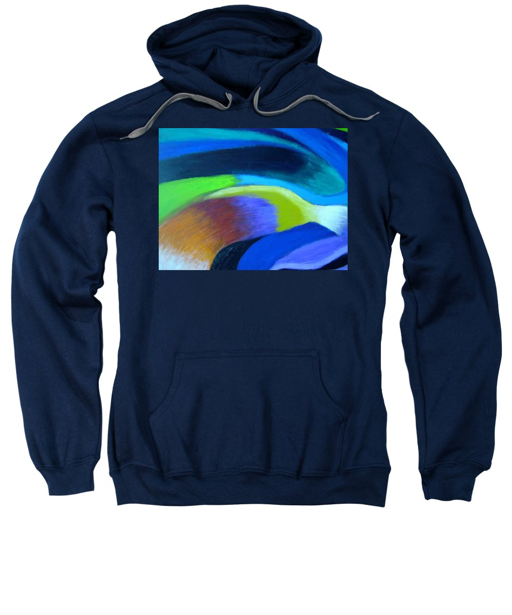 Turbulence Sweatshirt featuring the painting Turbulence by Jan Gilmore