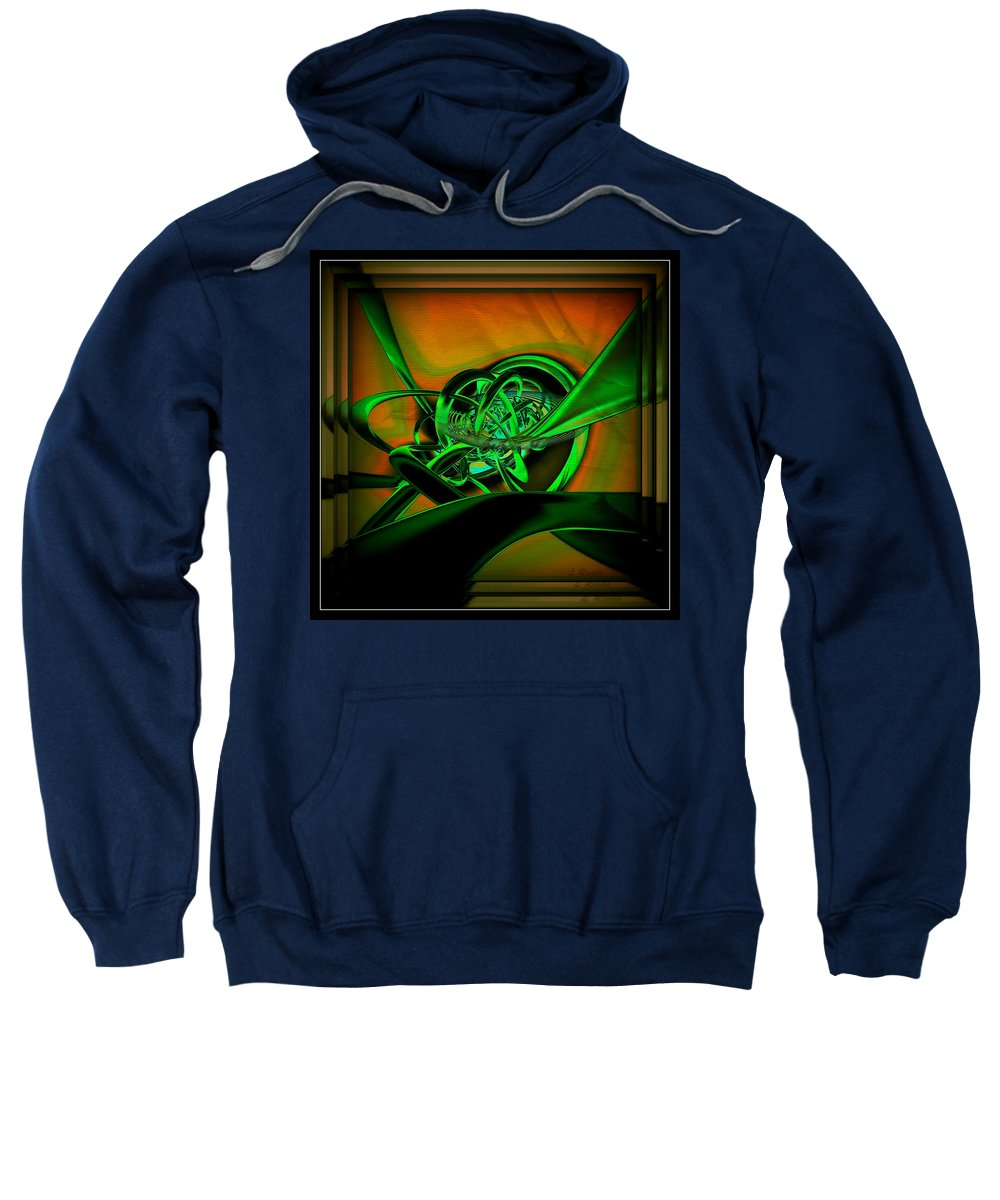 Digital Sweatshirt featuring the digital art Twisted Sister by Leslie Revels