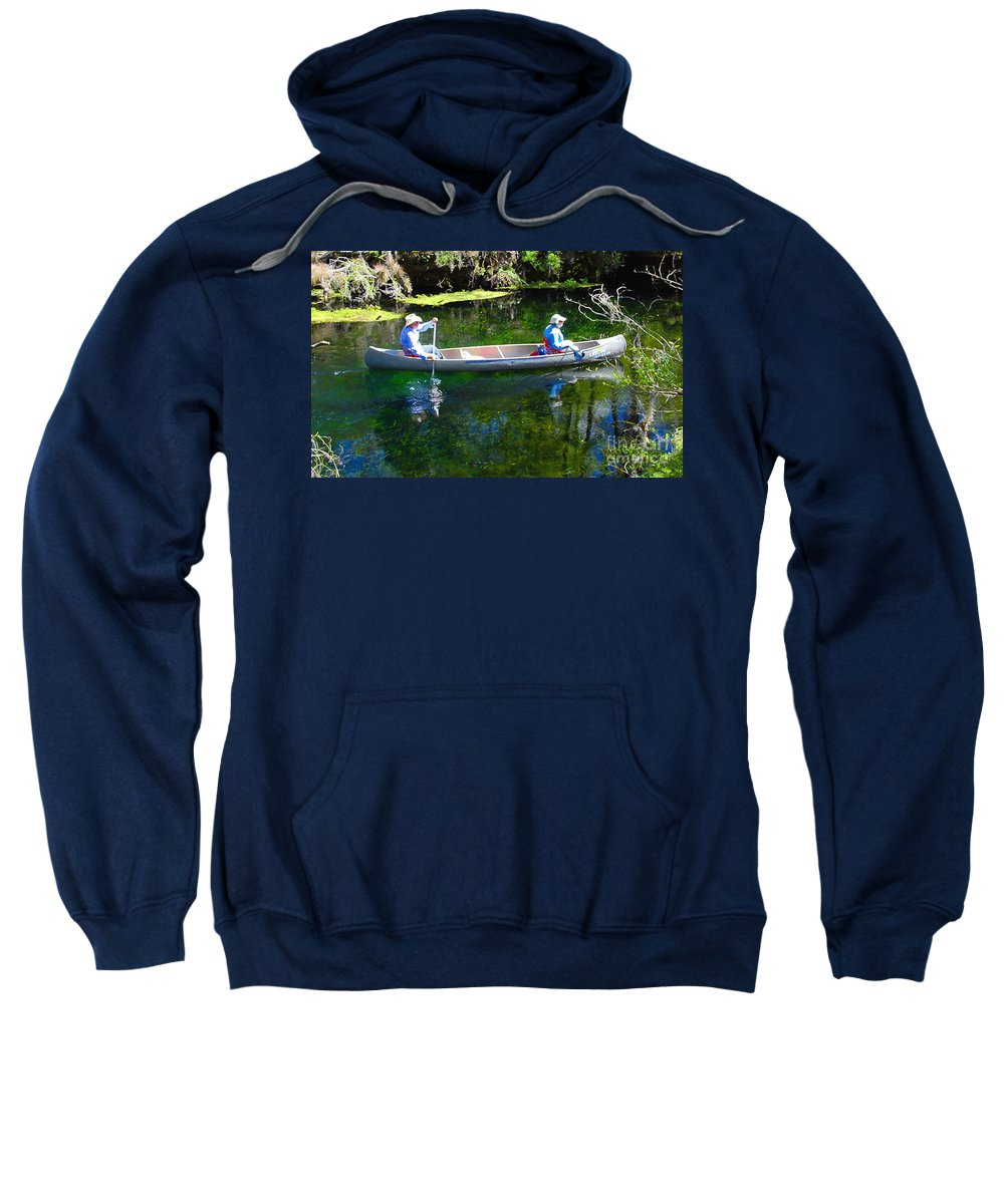 Canoe Sweatshirt featuring the photograph Two In A Canoe by David Lee Thompson