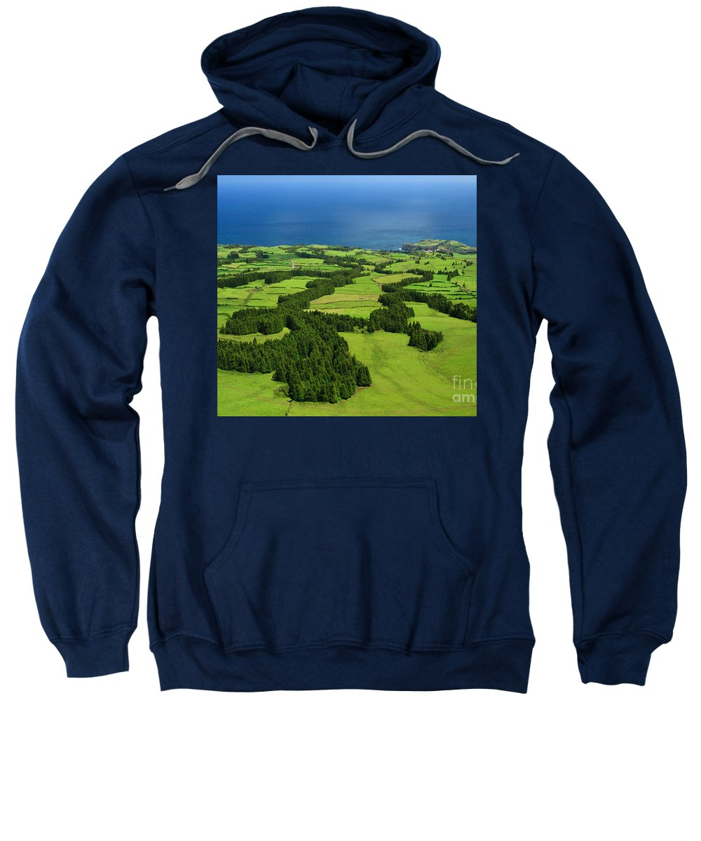 Landscape Sweatshirt featuring the photograph Typical Azores Islands Landscape by Gaspar Avila