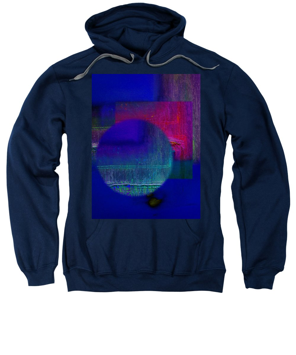 Landscape Sweatshirt featuring the painting Ultradeep Lavender by Charles Stuart