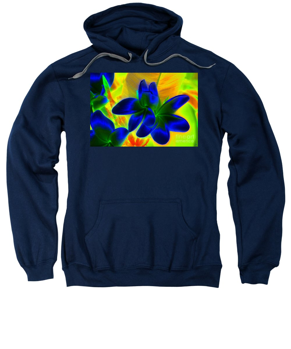 Ultraviolet Sweatshirt featuring the painting Ultraviolet by David Lee Thompson