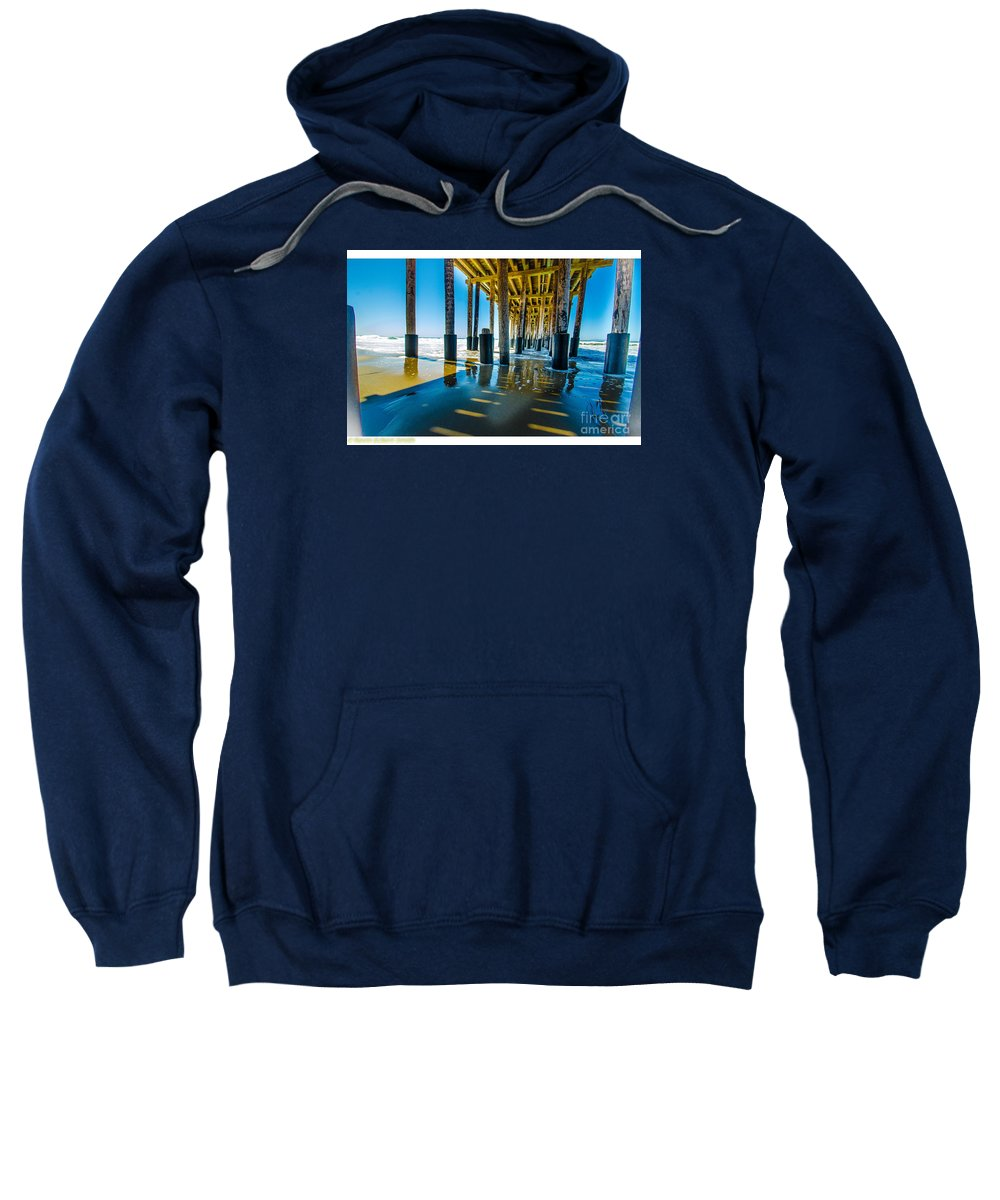 Pier Sweatshirt featuring the photograph Under The Pier by Kevin Eckert Smith