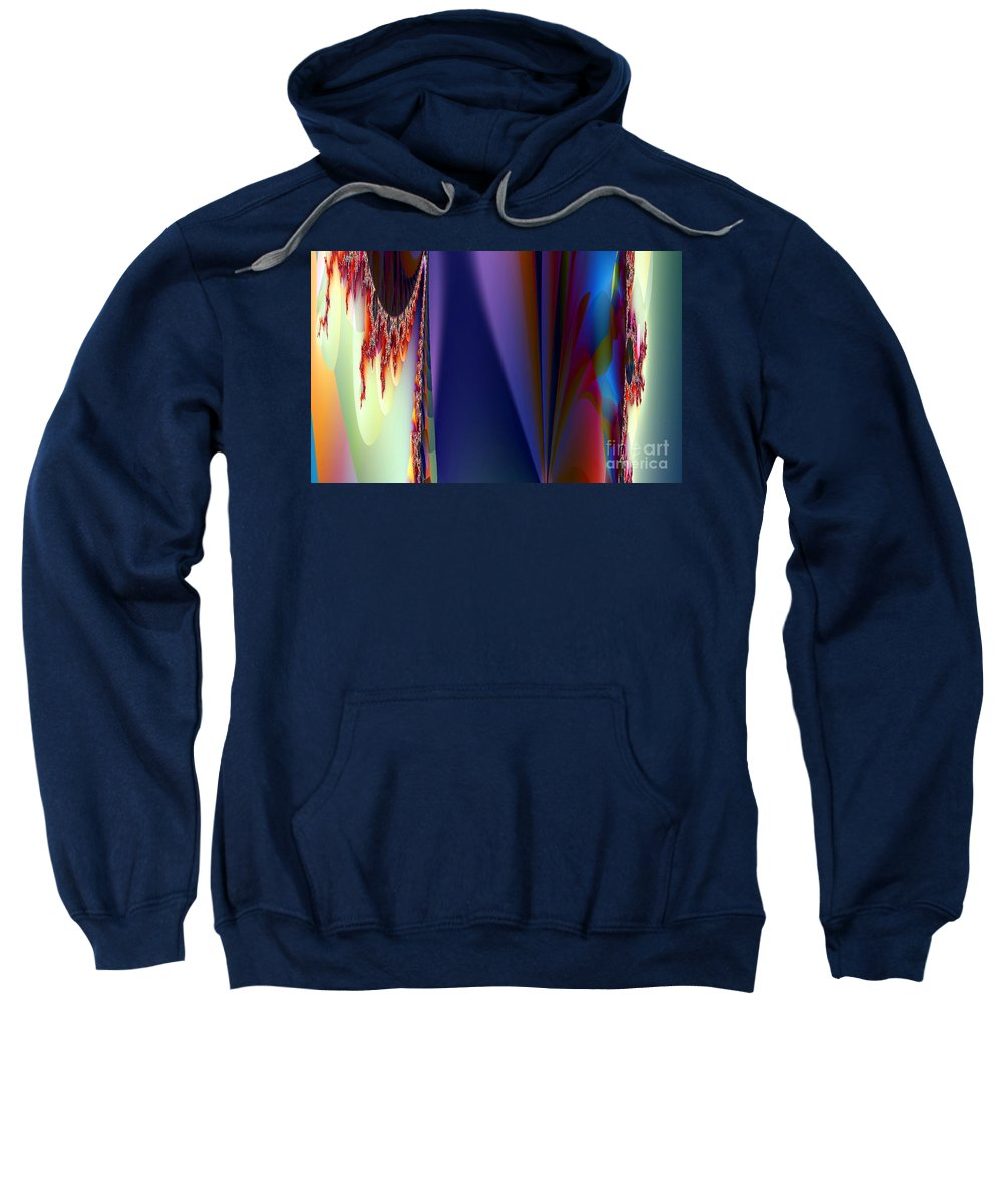 Clay Sweatshirt featuring the digital art Under The Rainbow by Clayton Bruster