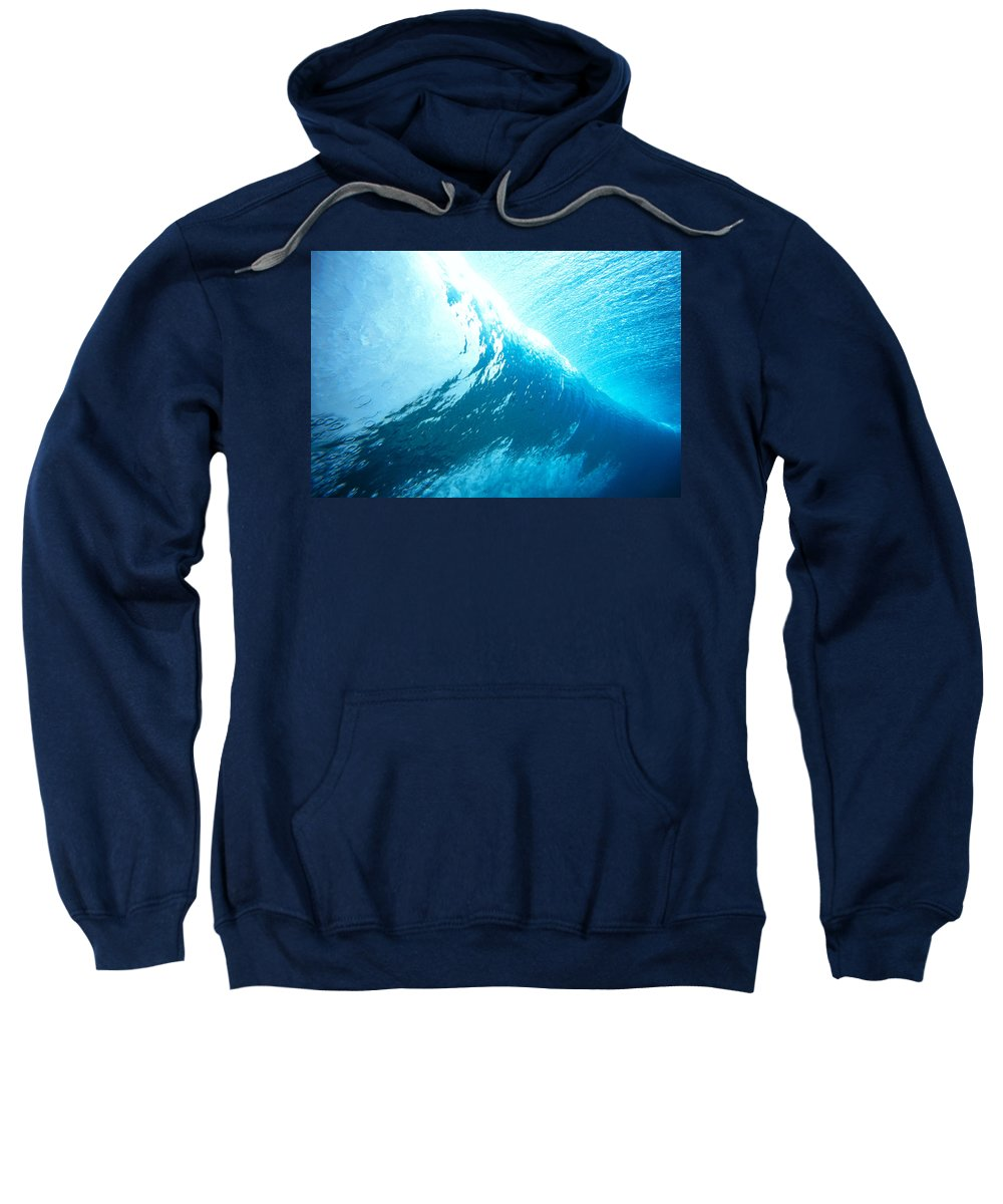 Above Sweatshirt featuring the photograph Underwater Wave by Vince Cavataio - Printscapes