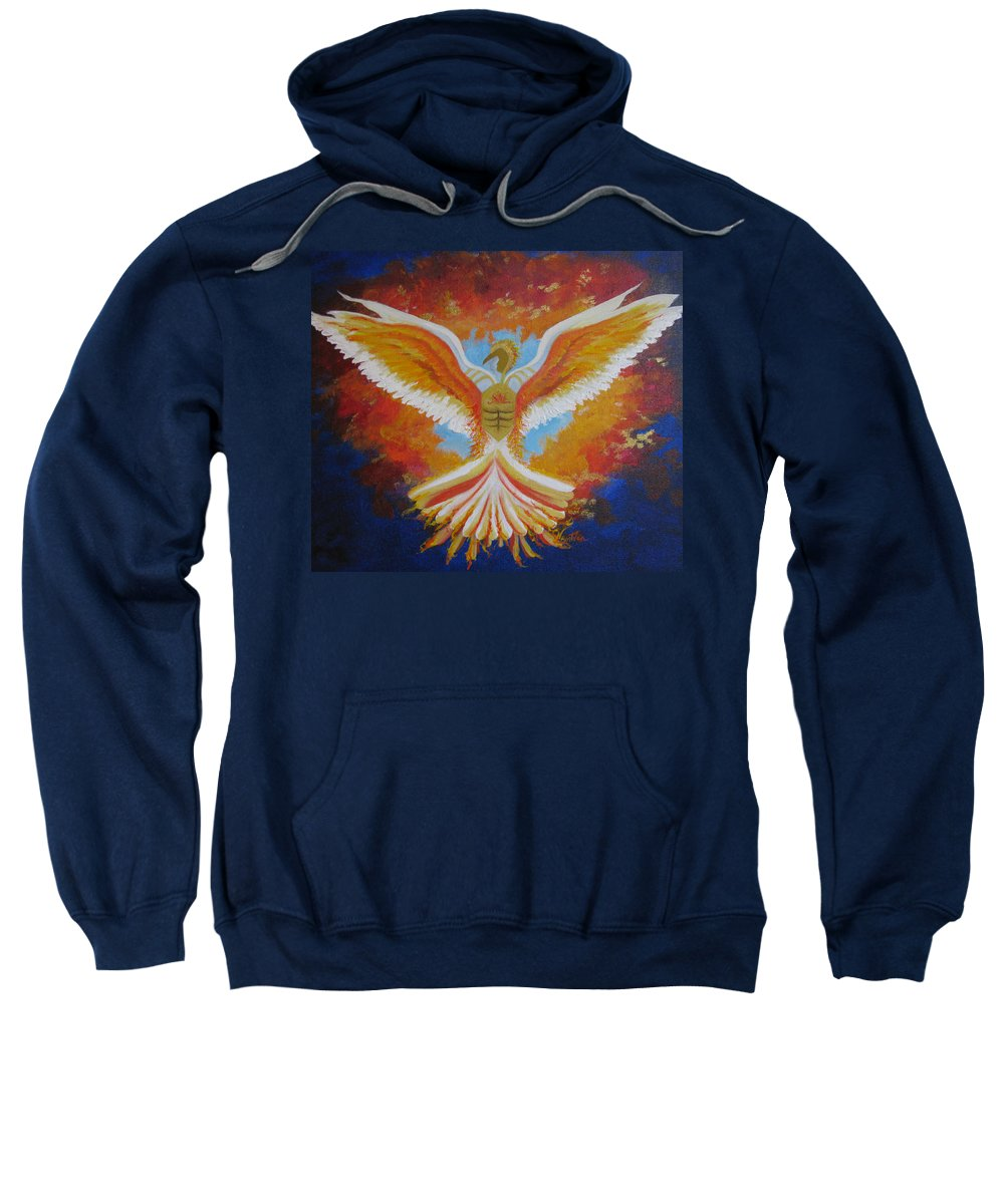 Vibrant Colors Sweatshirt featuring the painting Unleashing The Holy Spirit by Collette Bortolin