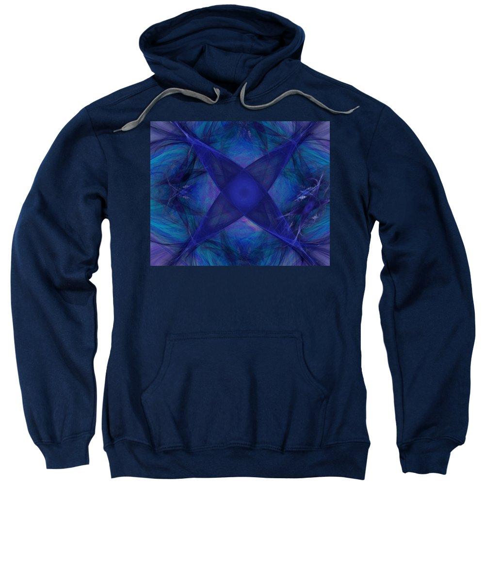 Fantasy Sweatshirt featuring the digital art Untitled 12-01-09 by David Lane