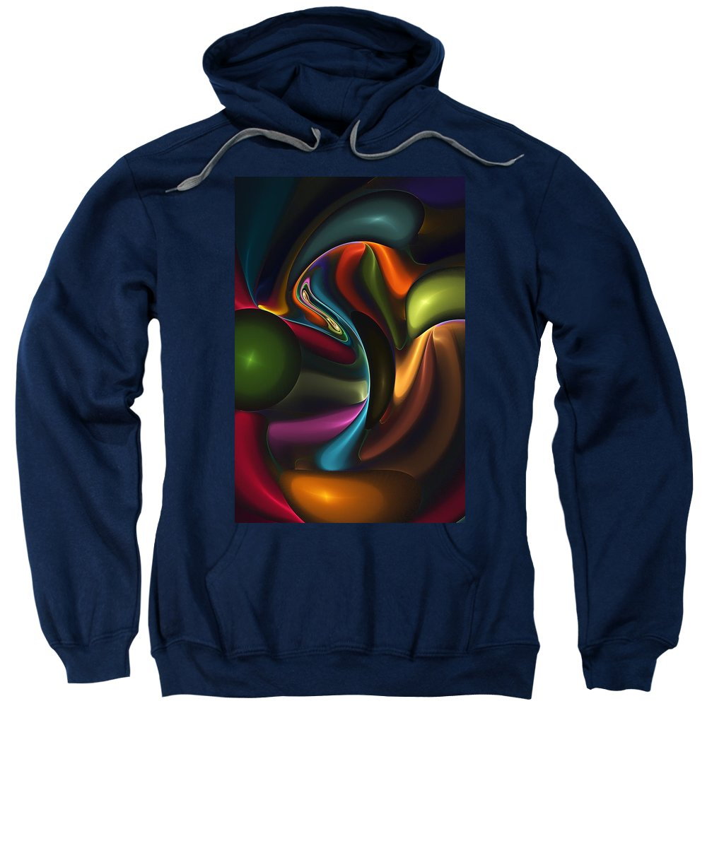 Digital Painting Sweatshirt featuring the digital art Untitled 4-10-10-a by David Lane