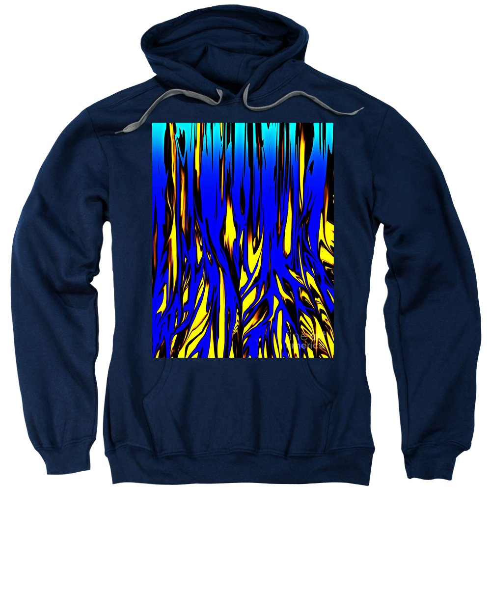 Abstract Sweatshirt featuring the digital art Untitled 7-21-09 by David Lane
