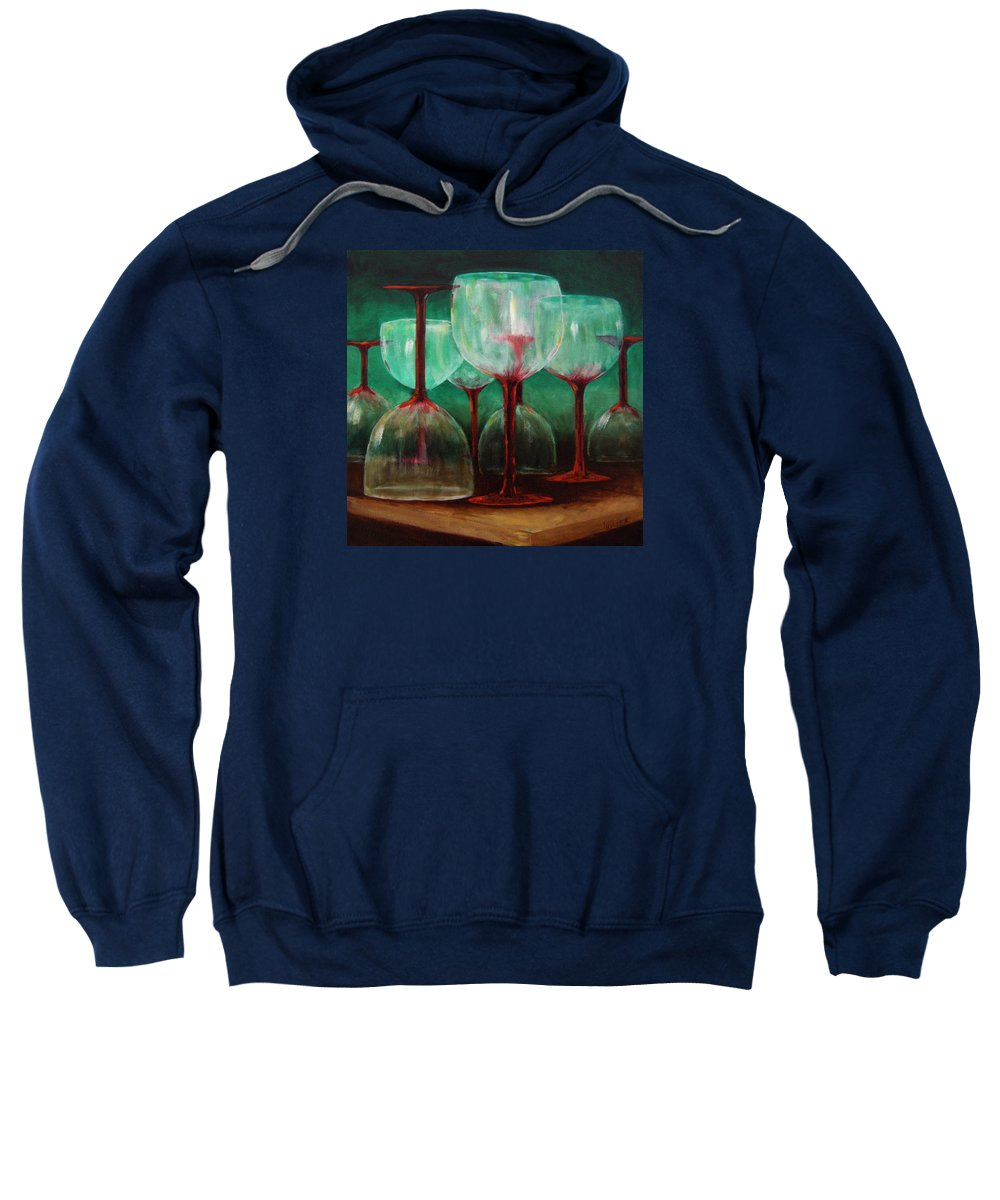Oil Sweatshirt featuring the painting Upsidedown by Linda Hiller