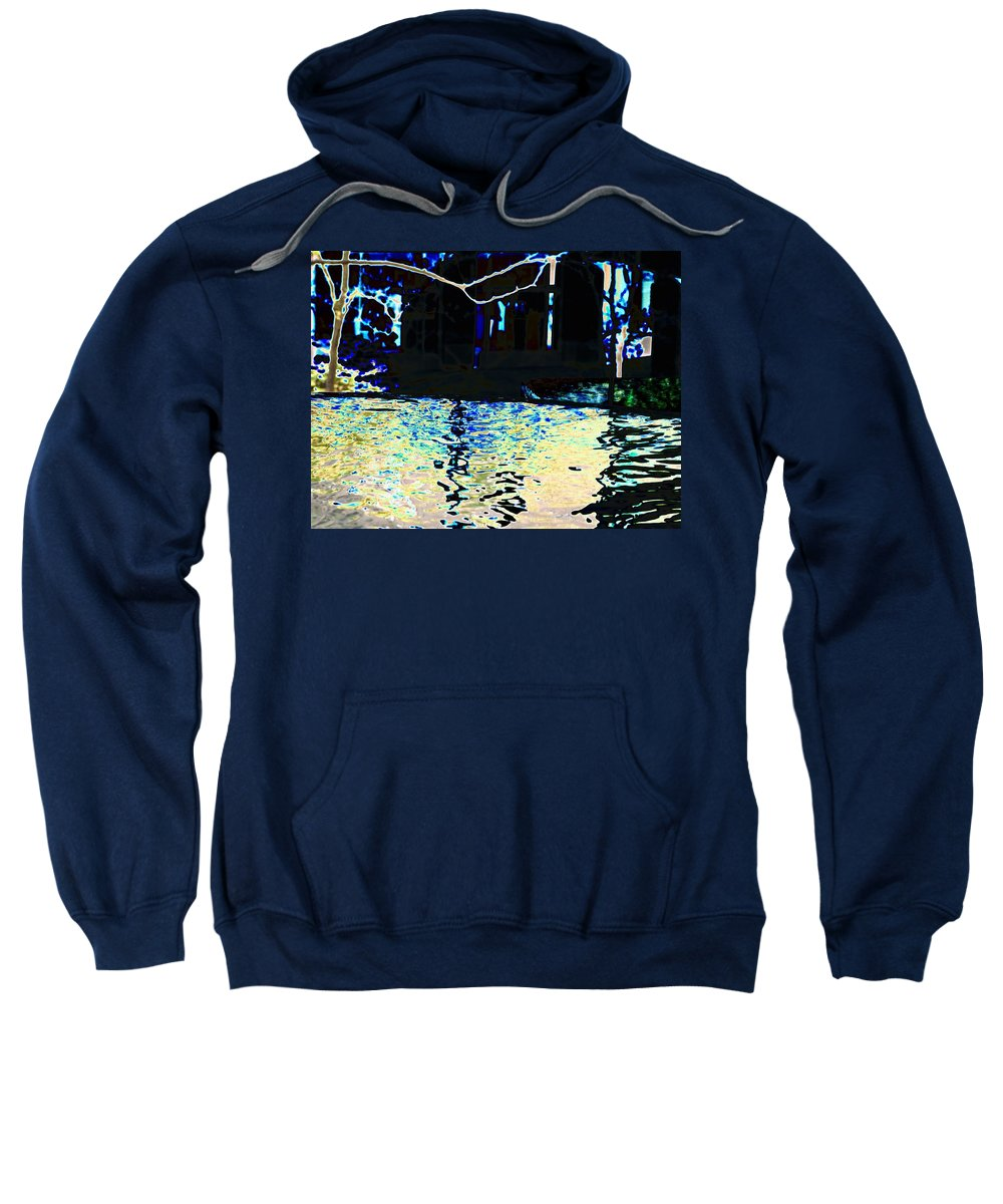 Seattle Sweatshirt featuring the photograph Urban Waterfall by Tim Allen