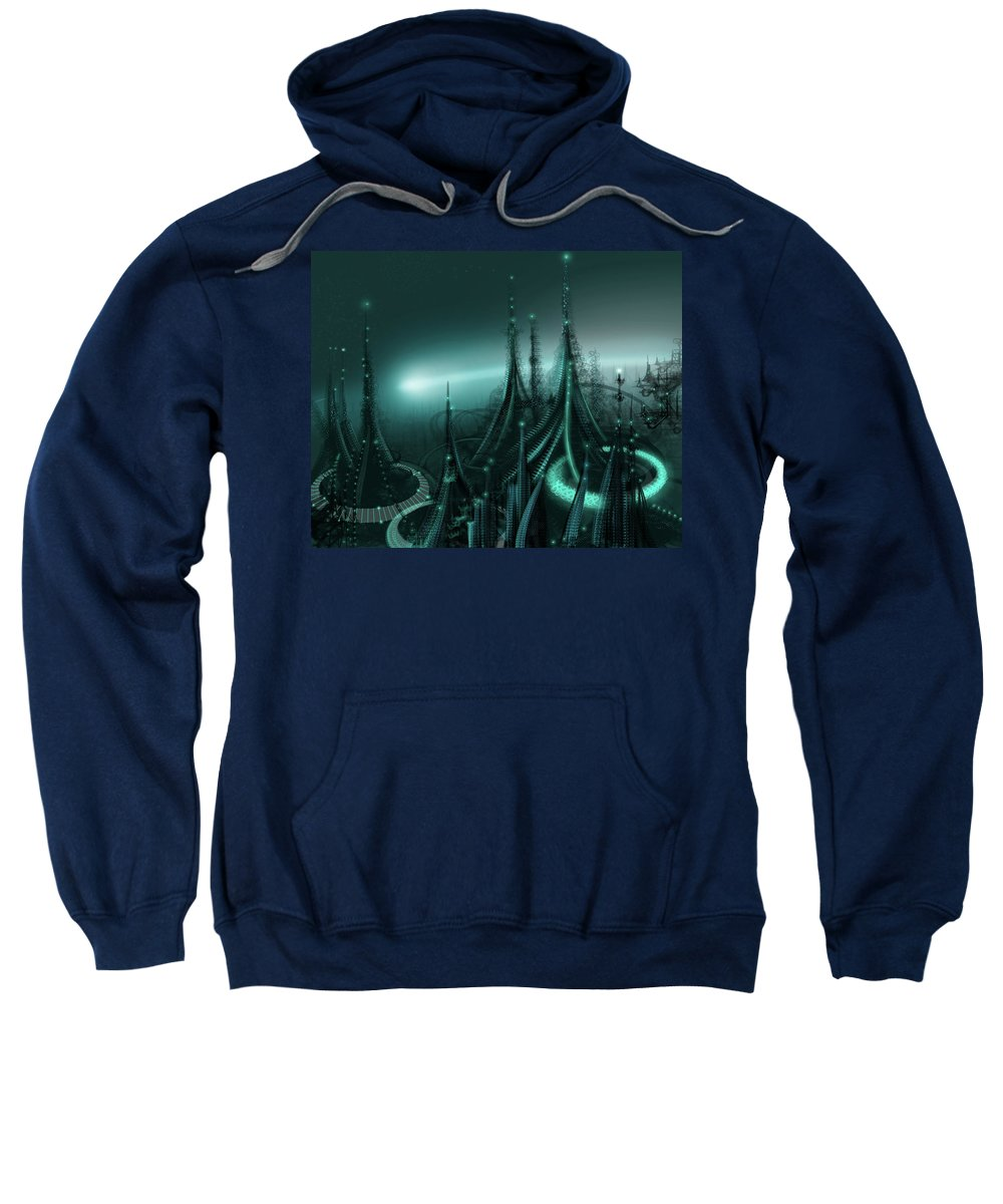 Cityscape Sweatshirt featuring the digital art Utopia by James Christopher Hill