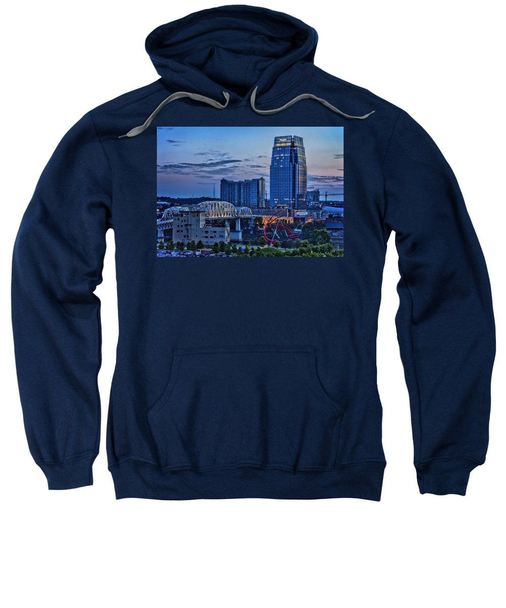 Shelby Bridge Sweatshirt featuring the photograph View From Lp Field by Diana Powell