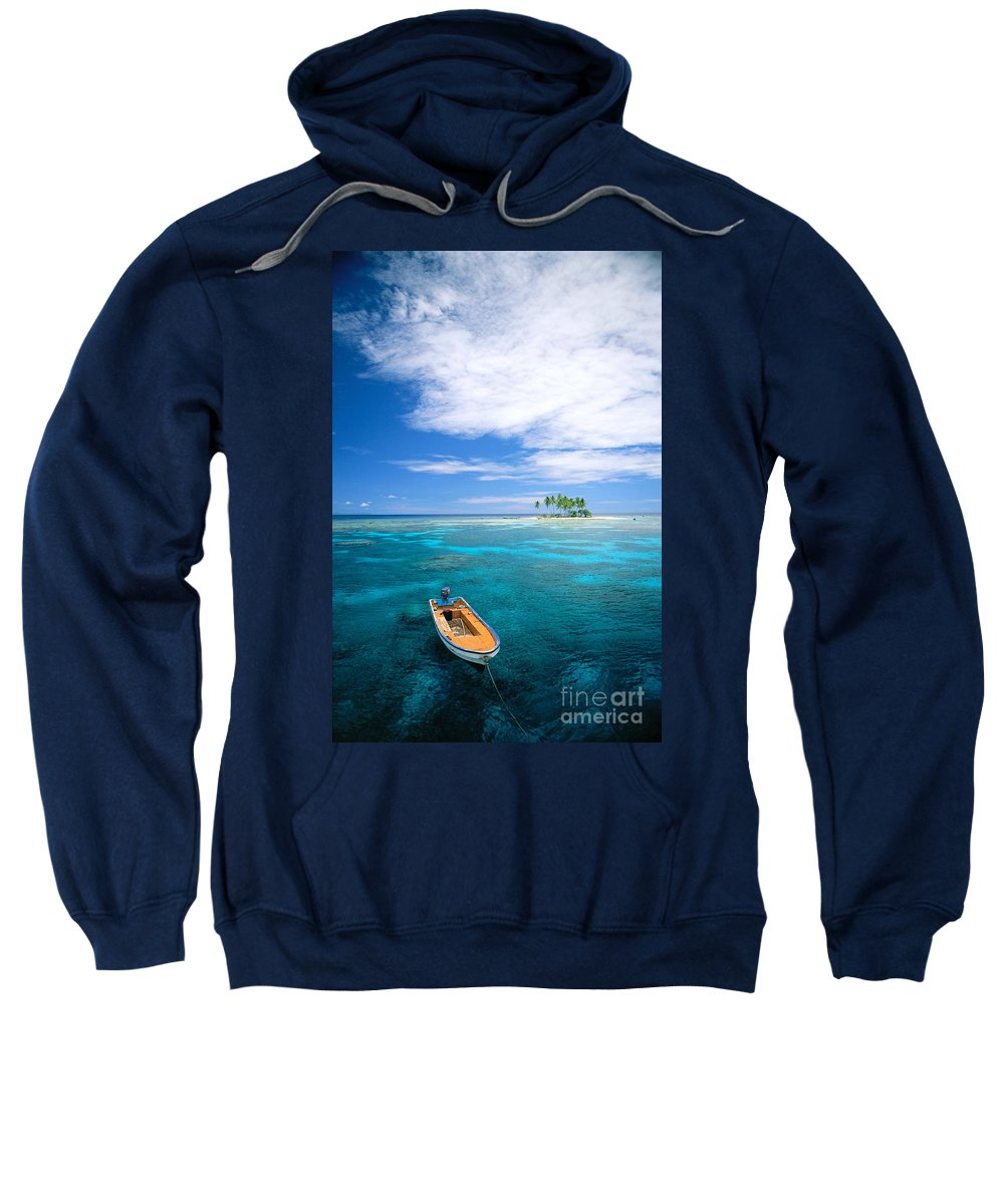 Blue Sweatshirt featuring the photograph View Of Micronesia by Rick Gaffney - Printscapes