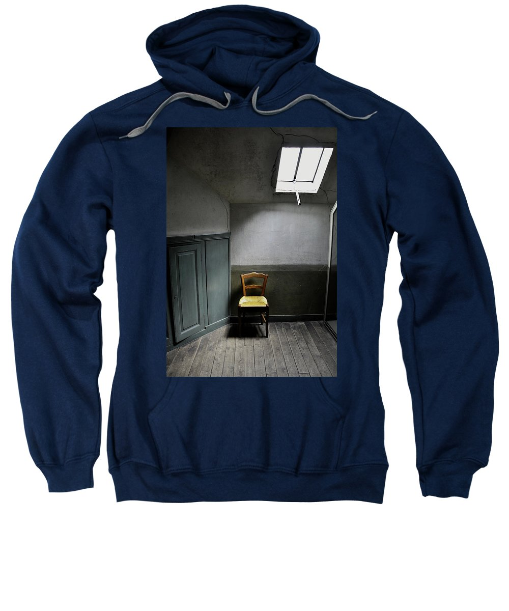 Chair Sweatshirt featuring the photograph Vincent Van Gogh's Room by HD Hasselbarth