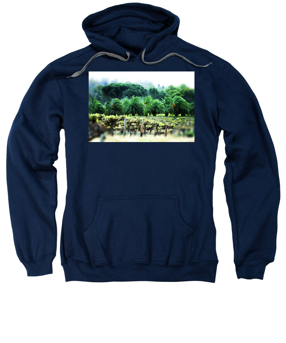 Vineyard Sweatshirt featuring the photograph Vino Palmetto by Douglas Barnard