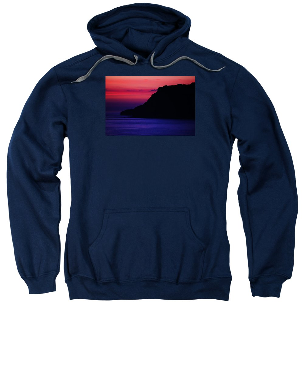 Landscape. Sunrise Sweatshirt featuring the photograph Vivid Hues by Peter Jenkins