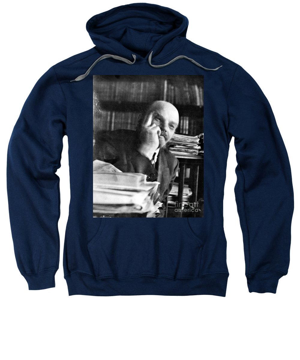 1920 Sweatshirt featuring the photograph Vladimir Lenin (1870-1924) by Granger