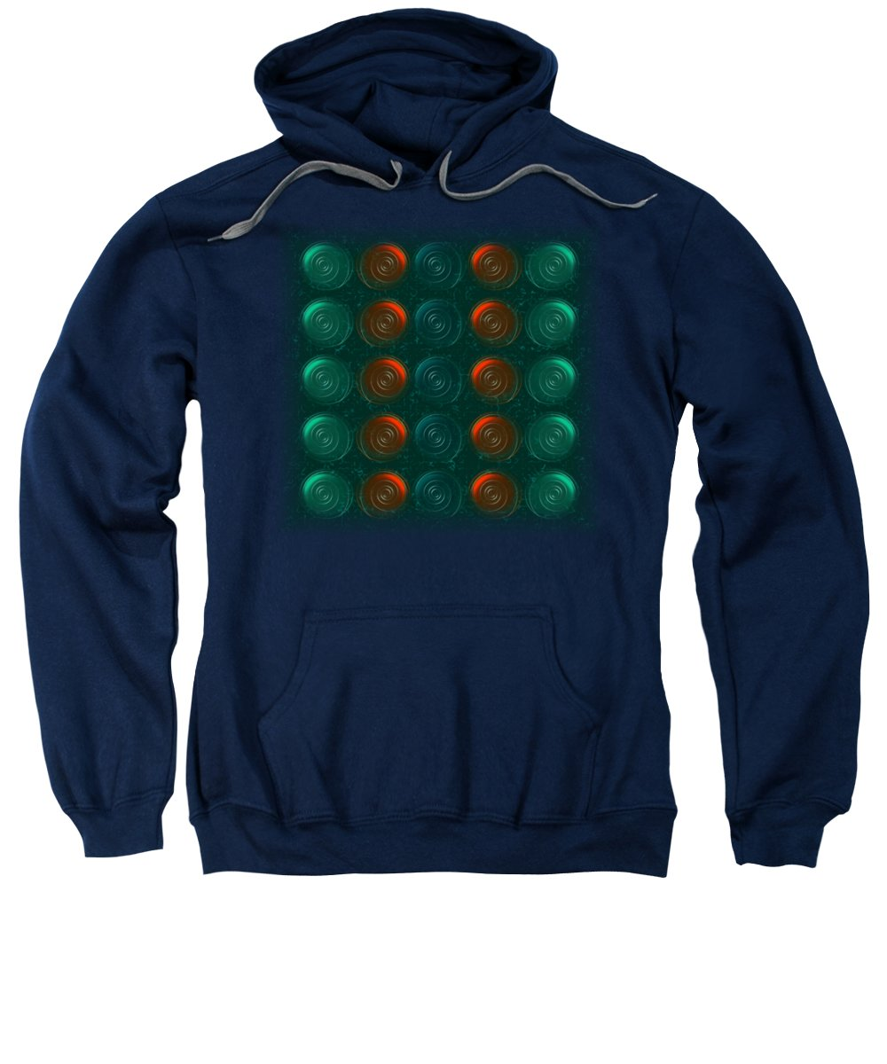 Abstract Sweatshirt featuring the digital art Vortices by Anastasiya Malakhova