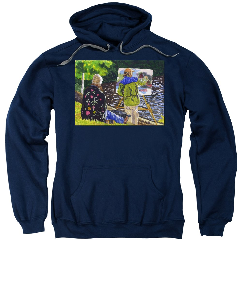 Artist Sweatshirt featuring the painting Watching The Maestro by Sharon E Allen