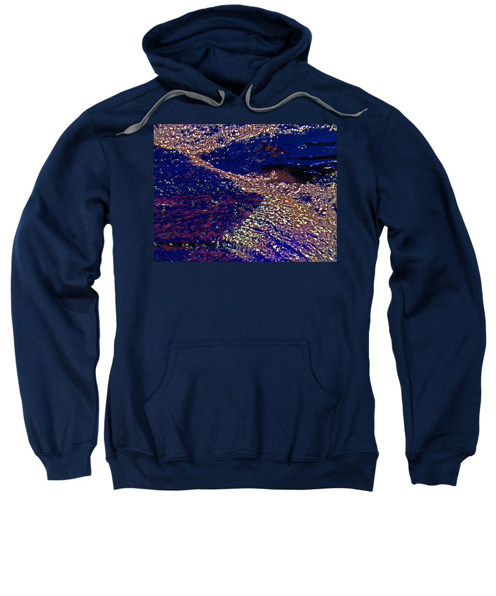Abstract Sweatshirt featuring the photograph Water 1-3 by Lenore Senior