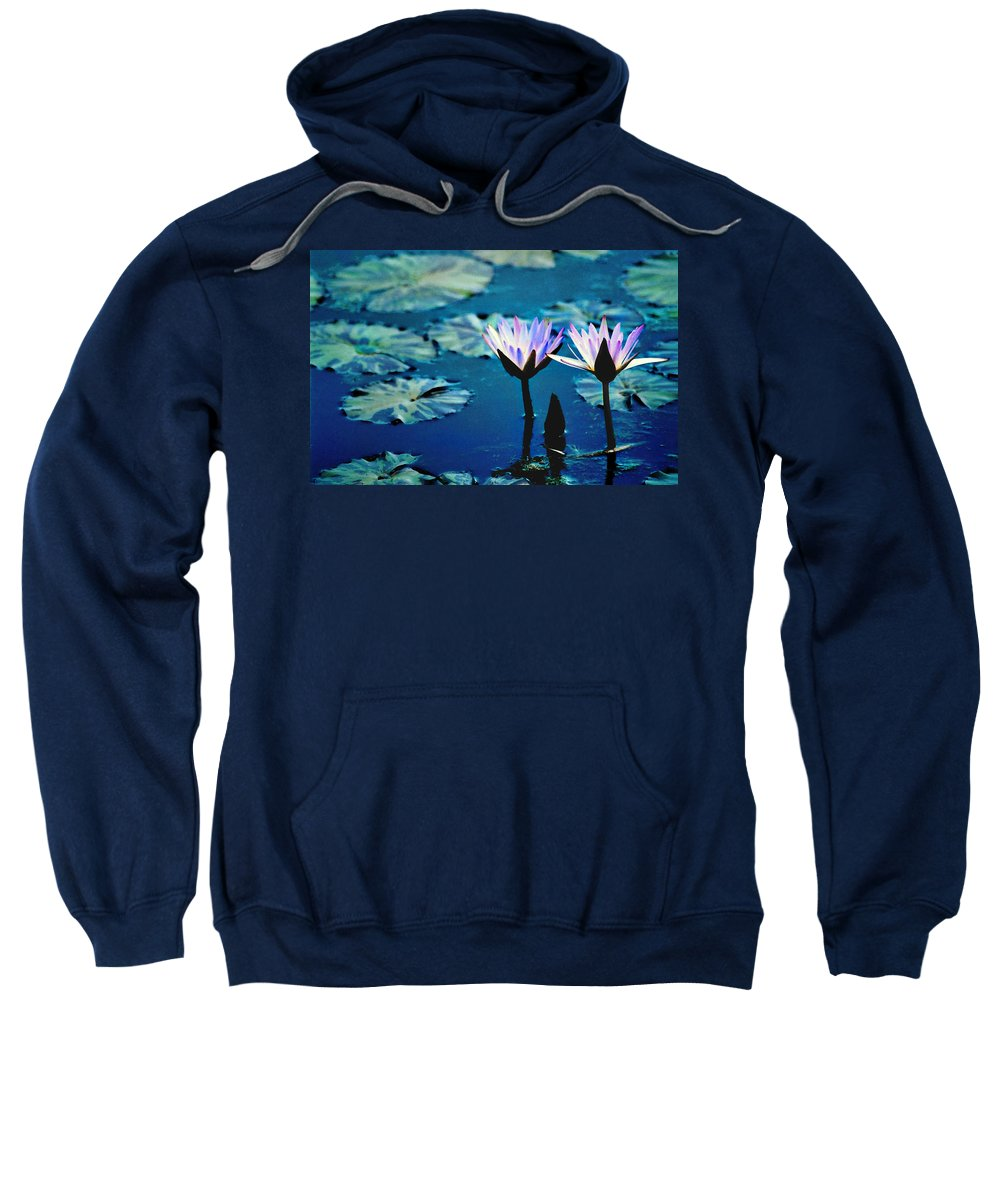 Waterscape Sweatshirt featuring the photograph Water Glow by Steve Karol