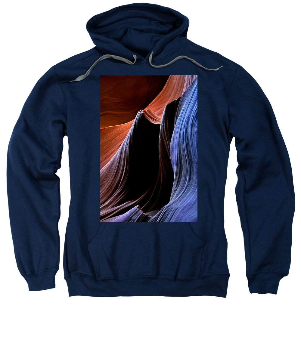 Sandstone Sweatshirt featuring the photograph Waves by Mike Dawson
