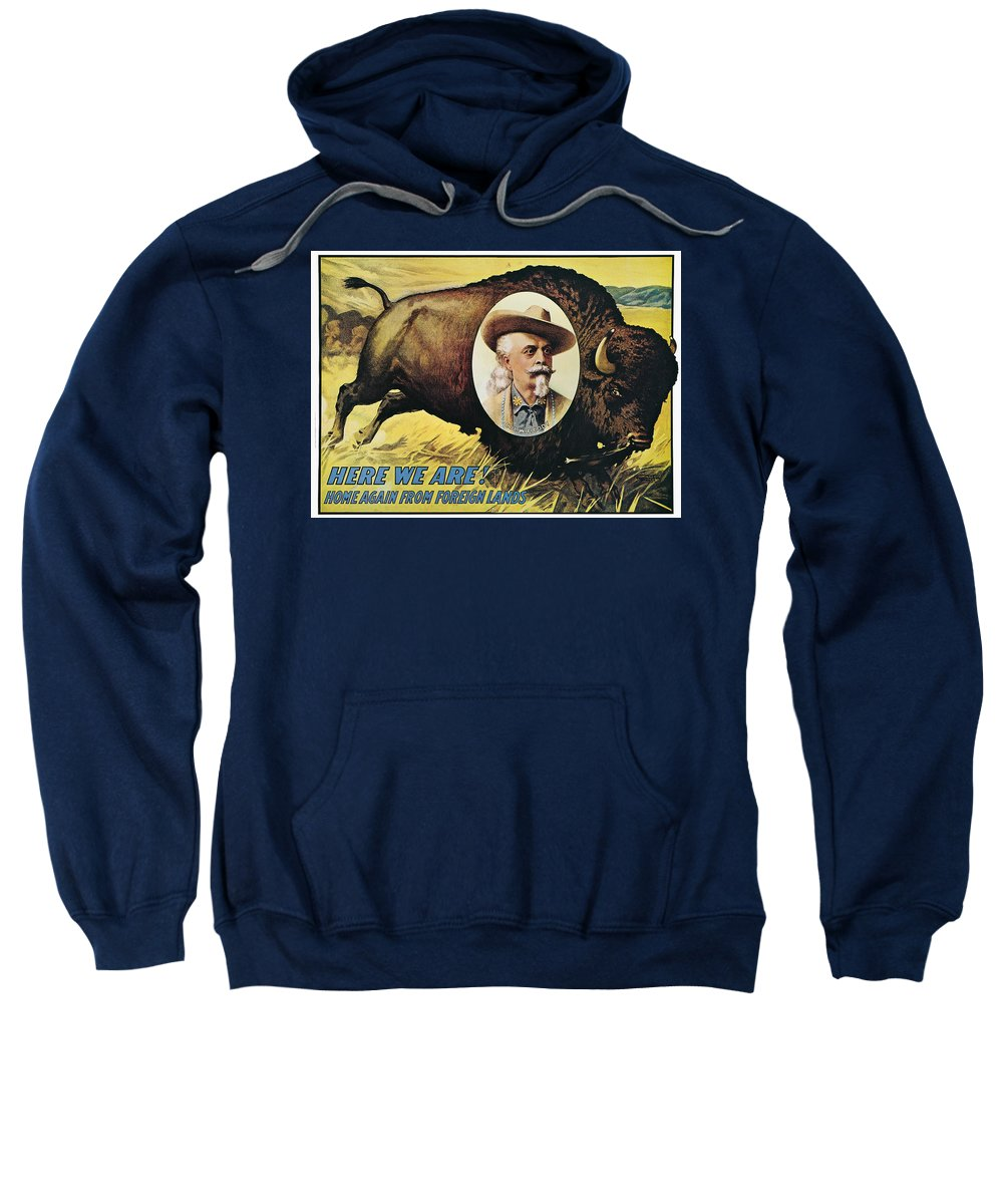 1908 Sweatshirt featuring the photograph W.f.cody Poster, 1908 by Granger