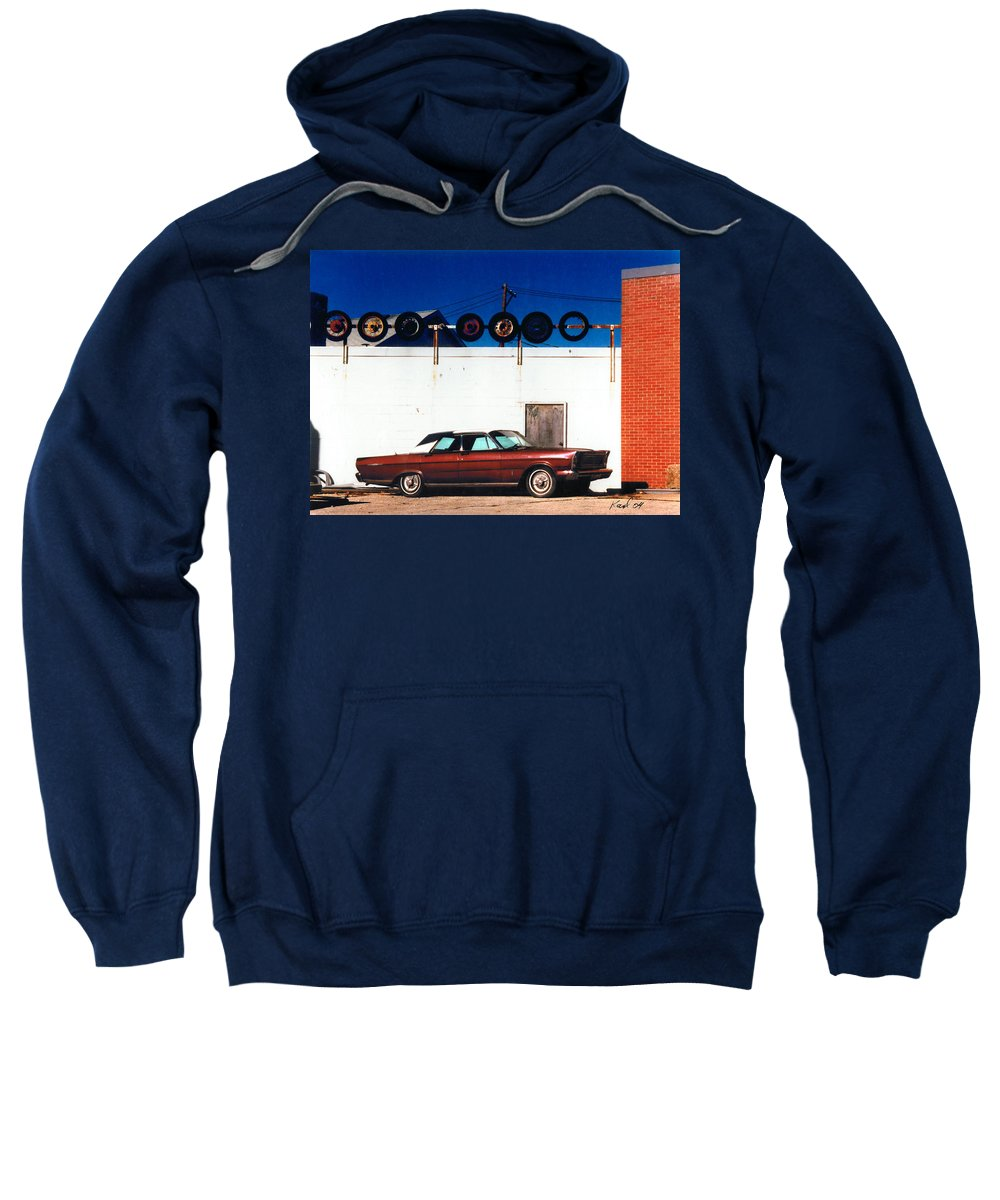Cars Sweatshirt featuring the photograph Wheels by Steve Karol