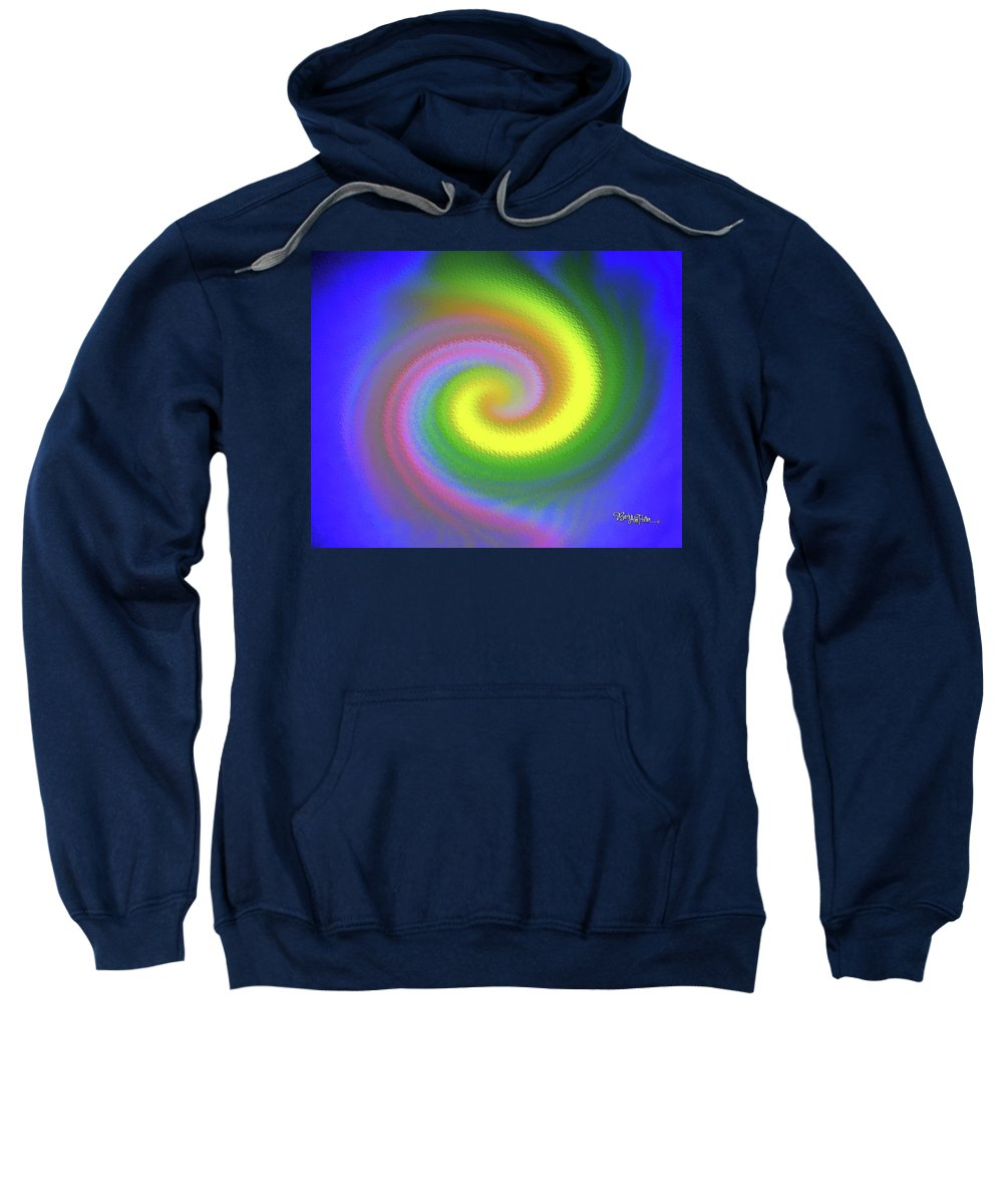 Rippling Energy Sweatshirt featuring the digital art Whimsical #110 by Barbara Tristan