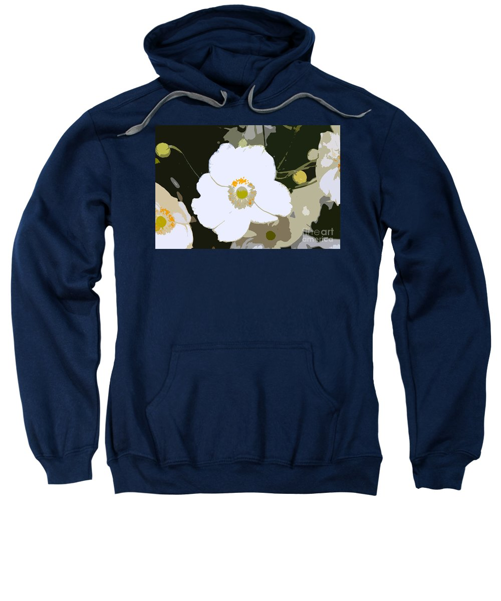 Flower Sweatshirt featuring the photograph White Beauty Work Number 6 by David Lee Thompson