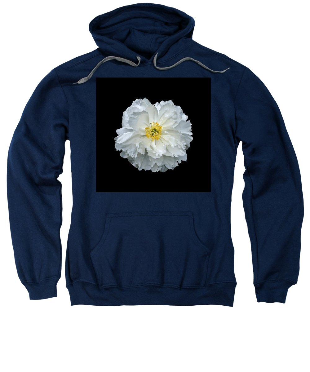 Peonies Sweatshirt featuring the photograph White Peony by Charles Harden