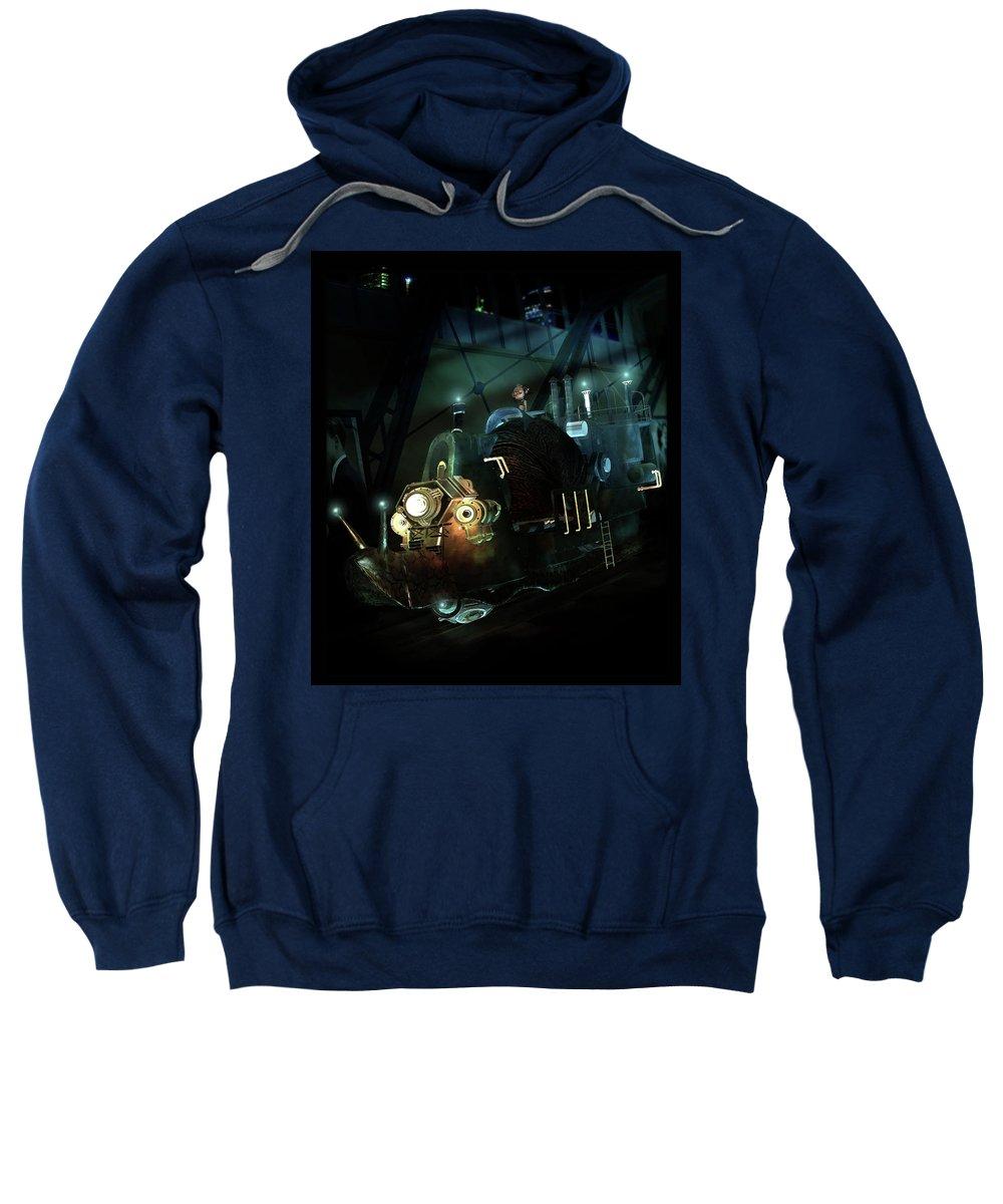 Snail Sweatshirt featuring the digital art Who Knew Part Two by Karen Koski