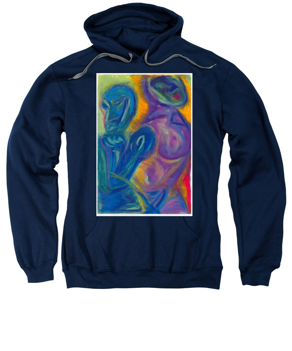 Sweatshirt featuring the pastel Why by Sitara Bruns
