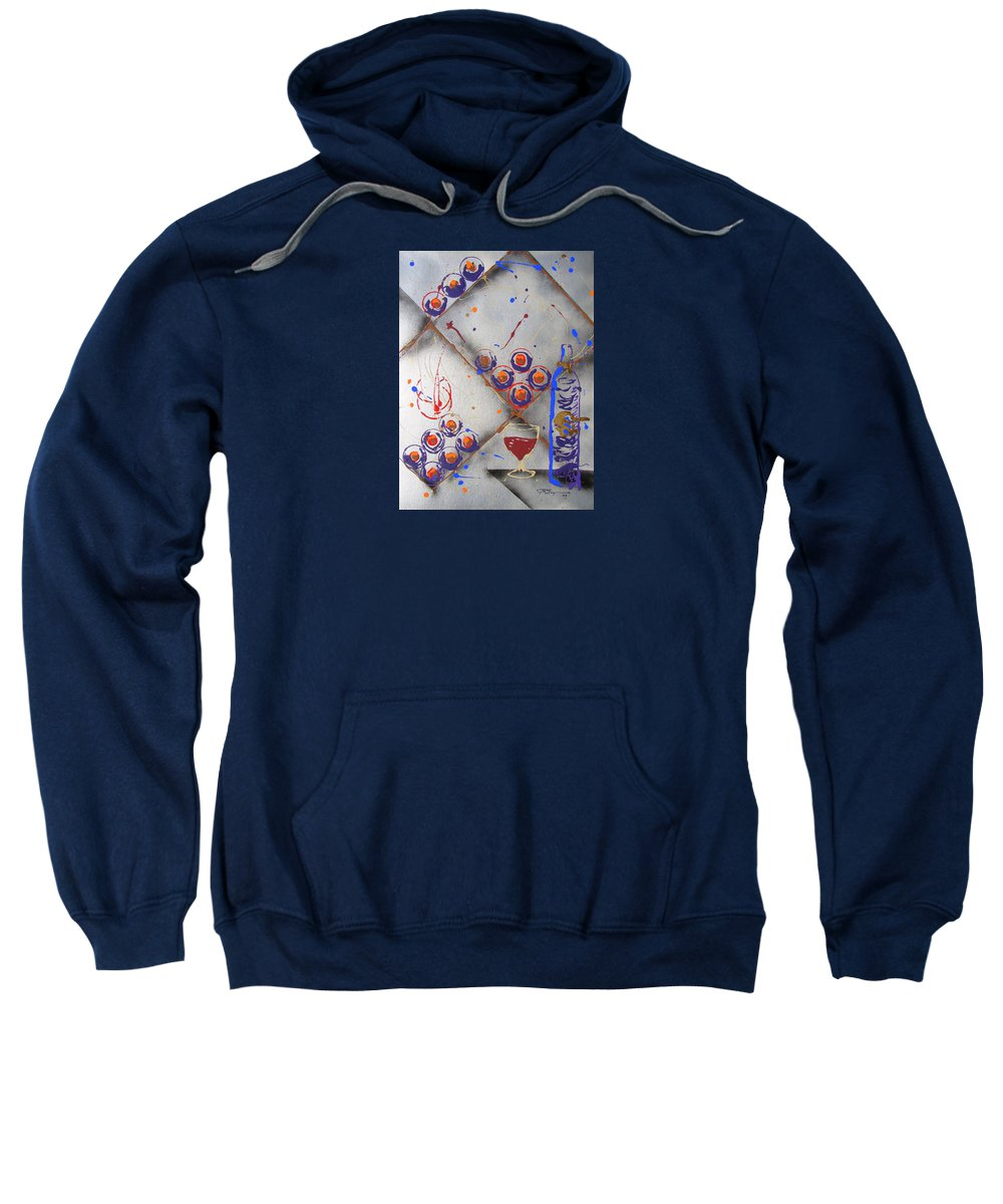 Impressionist Painting Sweatshirt featuring the painting Wine Connoisseur by J R Seymour