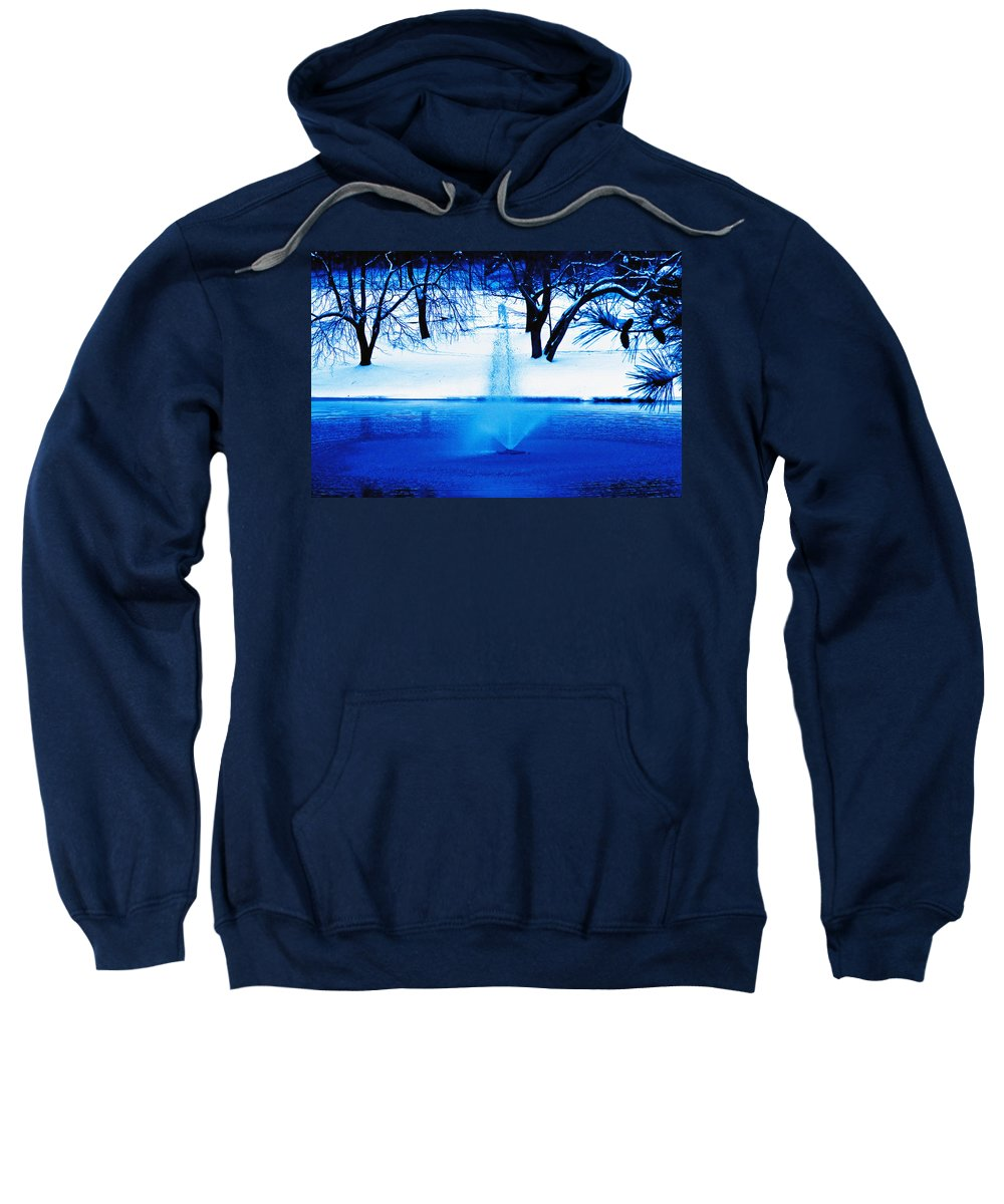 Winter Sweatshirt featuring the photograph Winter Fountain 2 by David Campbell