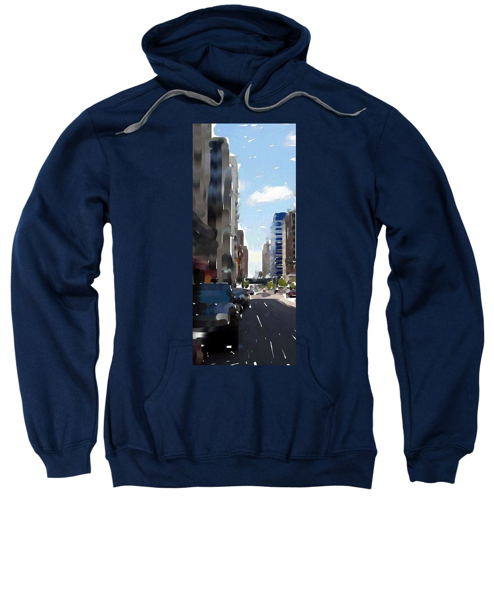 Milwaukee Sweatshirt featuring the digital art Wisconsin Ave 3 by Anita Burgermeister