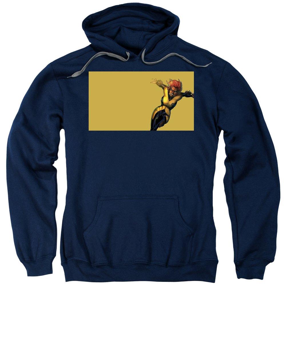 Wolfsbane Sweatshirt featuring the digital art Wolfsbane by Bert Mailer