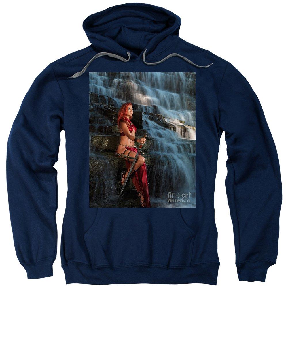 Woman Sweatshirt featuring the photograph Woman Warrior by Oleksiy Maksymenko