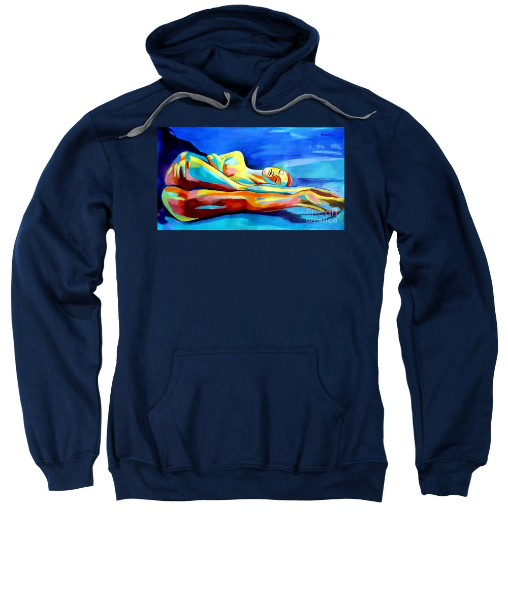 Affordable Paintings For Sale Sweatshirt featuring the painting Womanly Figure by Helena Wierzbicki