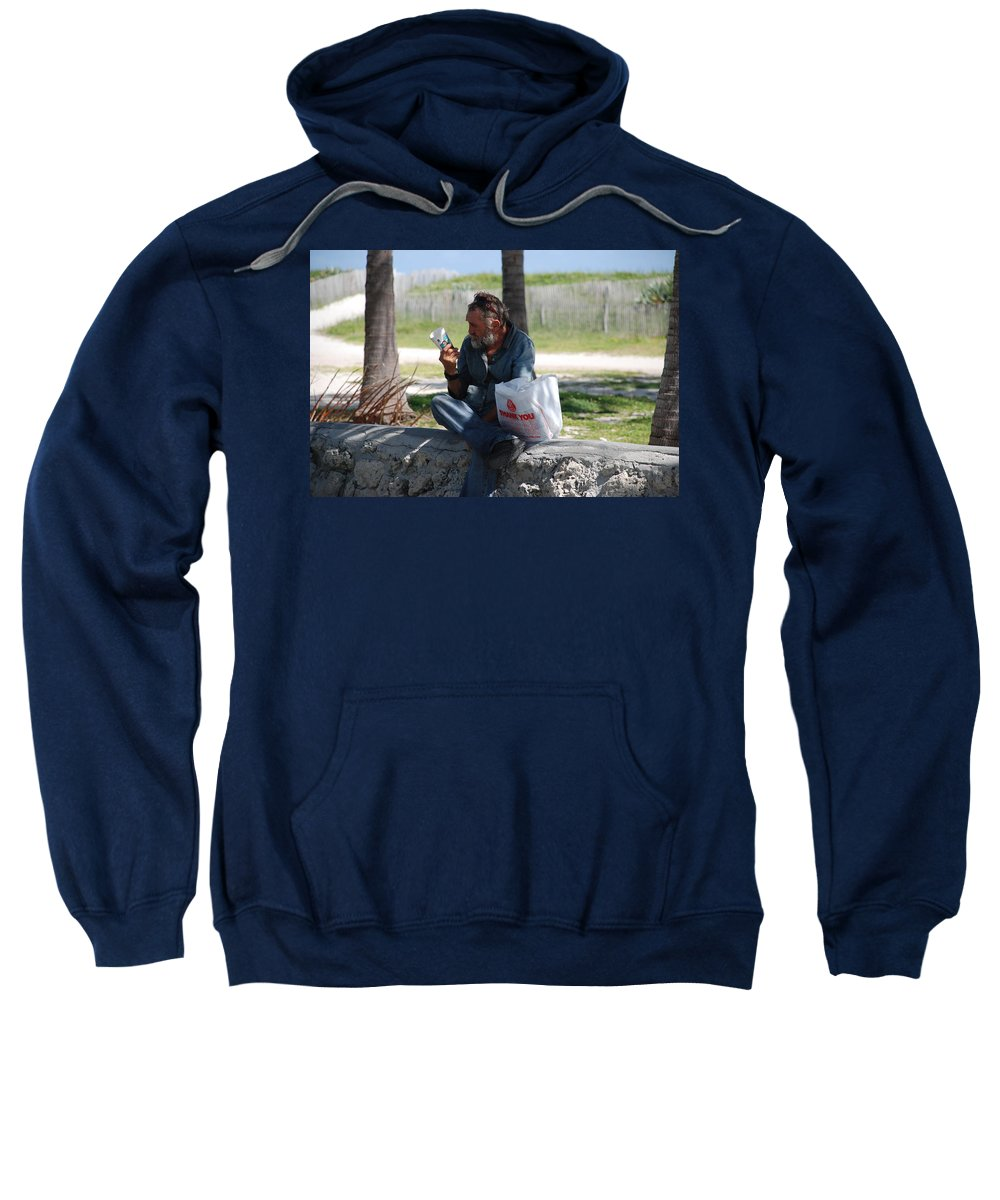 Man Sweatshirt featuring the photograph Worldly Posessions by Rob Hans