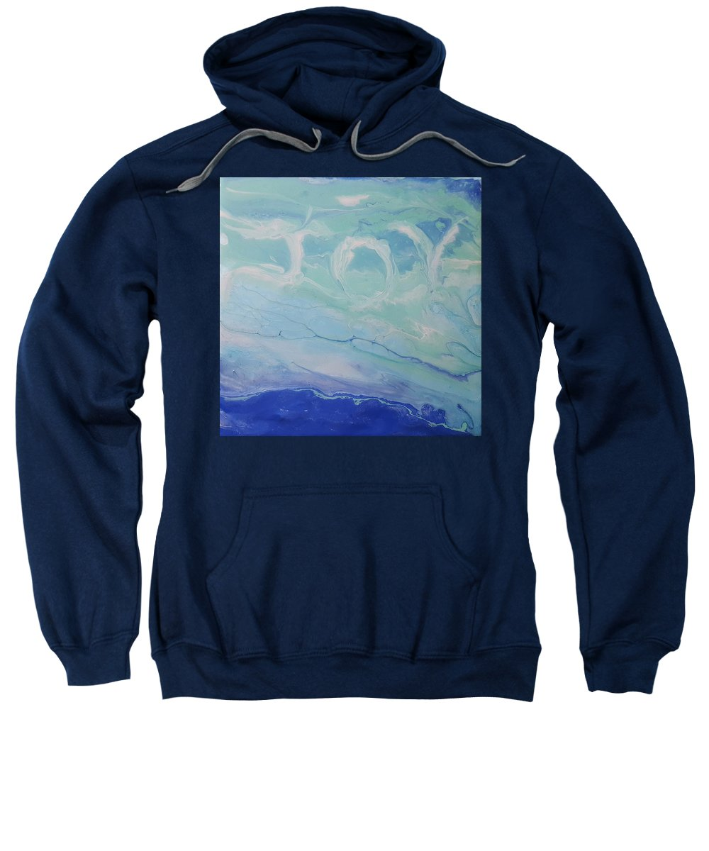 Clouds Sweatshirt featuring the painting Written In The Clouds by Dawn O'Connor
